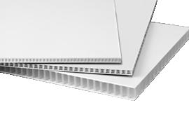 Pl stico corrugado coroplast for Laminas de plastico para paredes